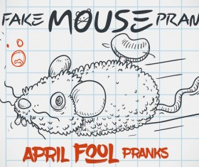 April fools prank hand darwing vector 19