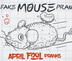 April fools prank hand darwing vector 19