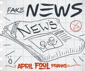 April fools prank hand darwing vector 20