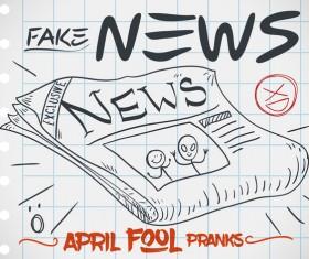April fools prank hand darwing vector 20
