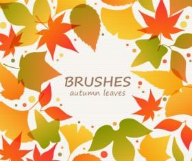 Beautiful autumn leaves photoshop brushes
