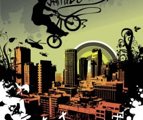 Bicycle BMX background vector design 01