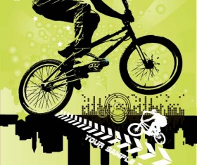 Bicycle BMX background vector design 02