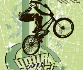Bicycle BMX background vector design 04