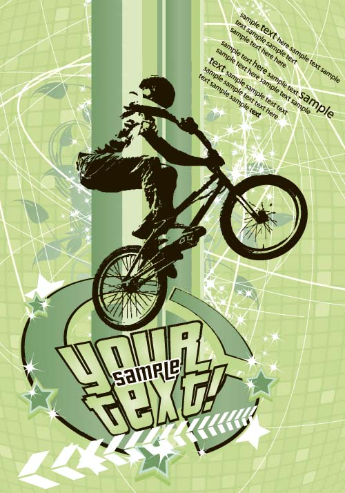 Bicycle BMX background vector design 04