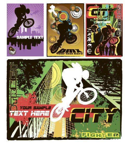 Bicycle BMX background vector design 05