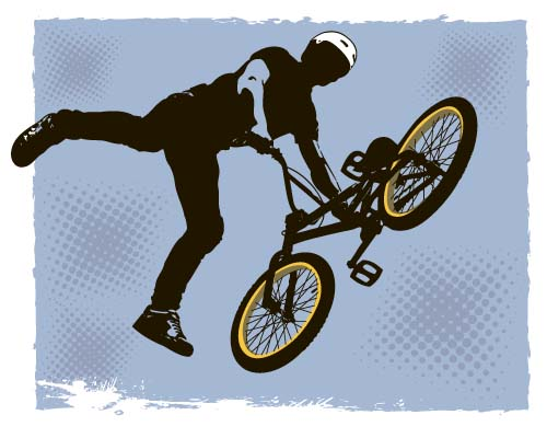 Bicycle BMX background vector design 06