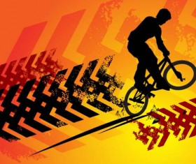 Bicycle BMX background vector design 08