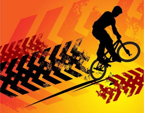 Bicycle BMX background vector design 08