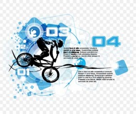 Bicycle BMX background vector design 09