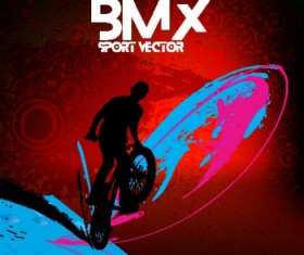 Bicycle BMX background vector design 10