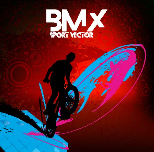 Bicycle BMX background vector design 10