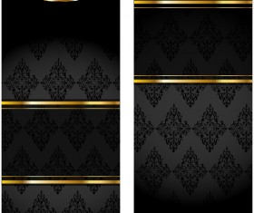 Black Vip vertical banner vector