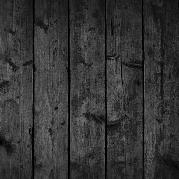 Black old wood texture background vector