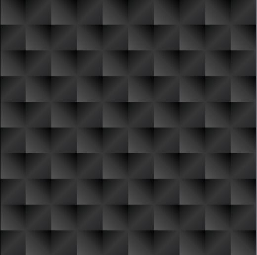 Black square texture vector seamless pattern