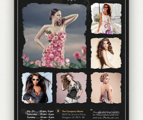 Black styles business flyer psd template