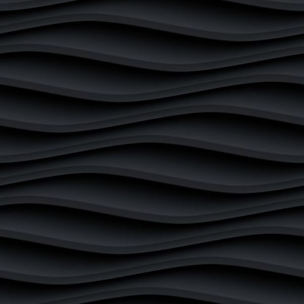 Black wavy texture pattern seamless vector 01
