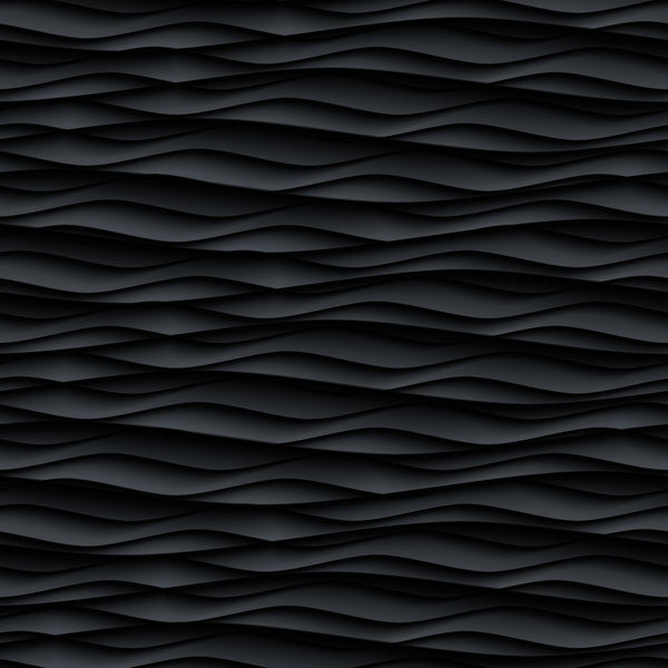 Black wavy texture pattern seamless vector 02