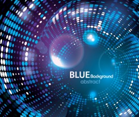 Blue background with abstract vector design
