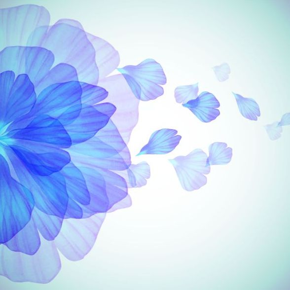 Blue flower with petal vector