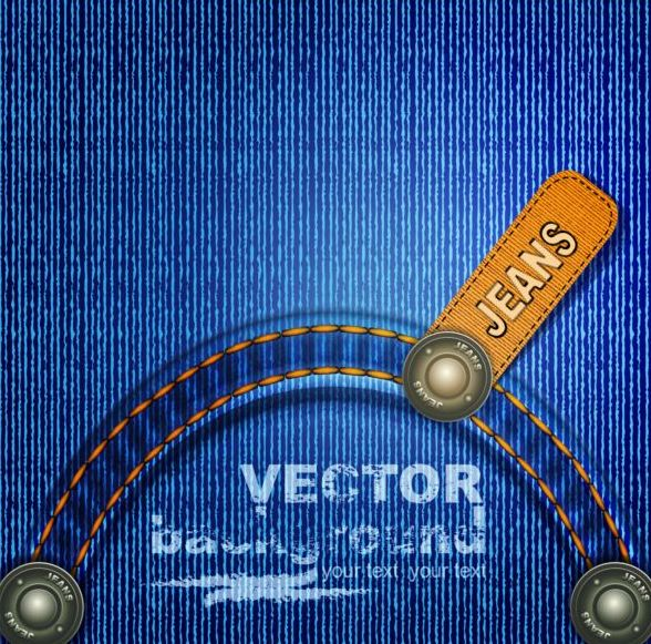 Blue jeans background design vector 02