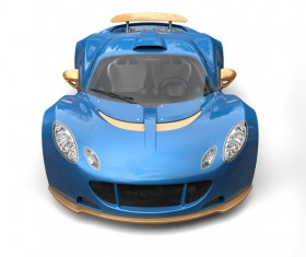 Blue sports car front view HD picture