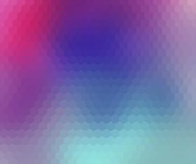 Blurs background with hexagon pattern vecror