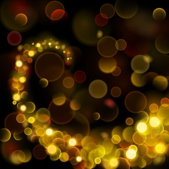 bokeh effect background abstract vector 01