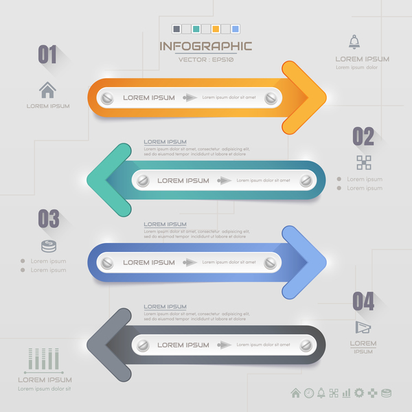 Business Infographic creative design 4636
