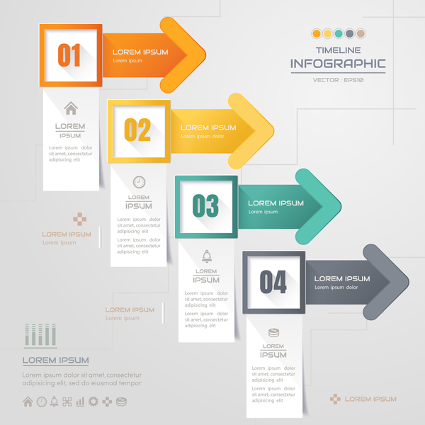 Business Infographic creative design 4640