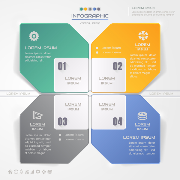 Business Infographic creative design 4641