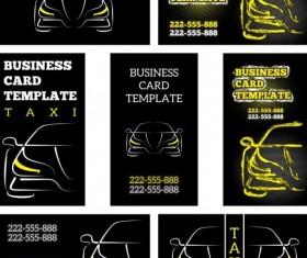 Business car template vector set