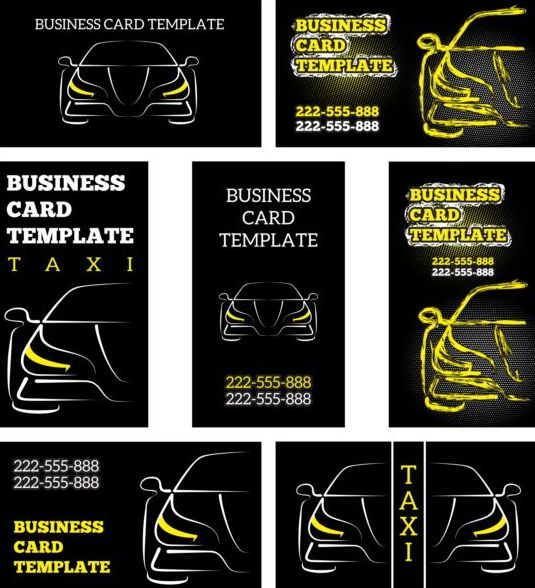 Business car template vector set