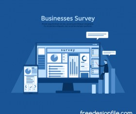 Business survey vector template