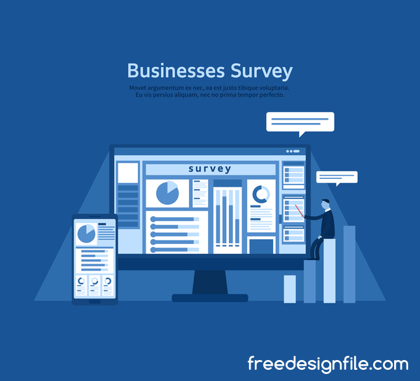 Business survey vector template