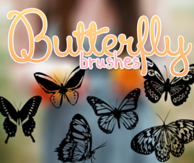 Butterflies brushes