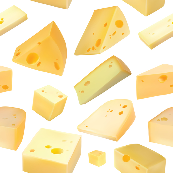 Cheese pattern including seamless vector