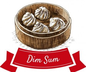 Chinese dim sum vector