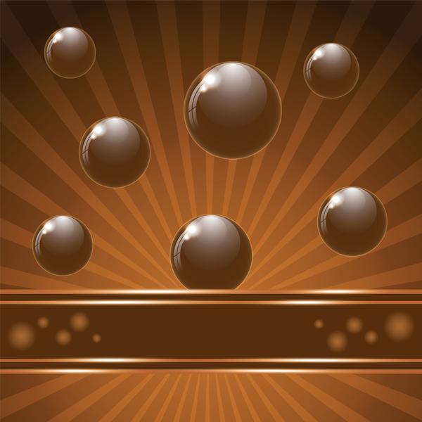 Chocolate background creative vector