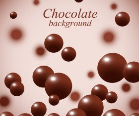 Chocolate ball background vector material 01