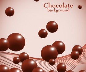 Chocolate ball background vector material 02