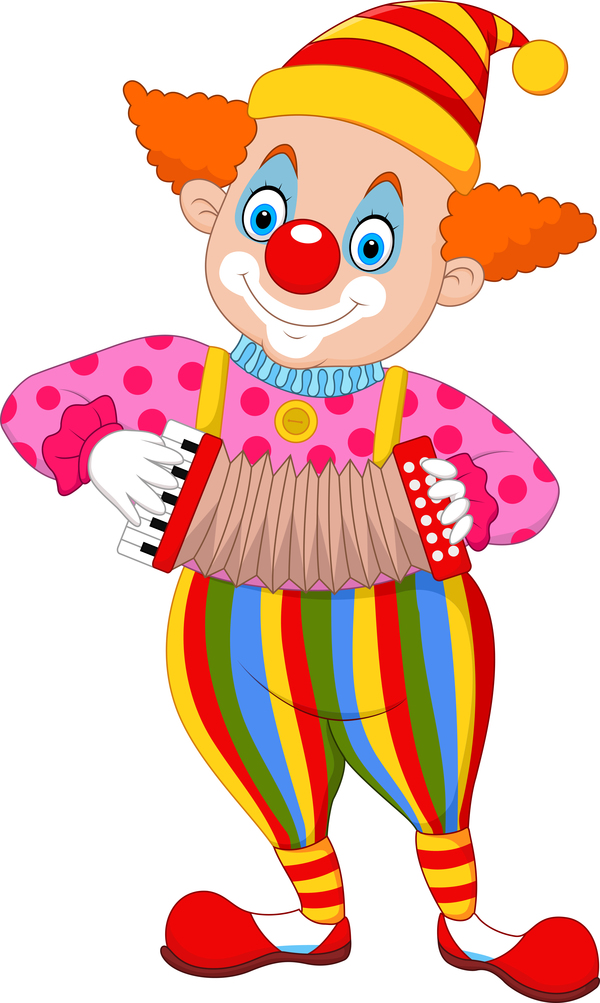 Circus Clown Illustration Vector Set 04 Free Download