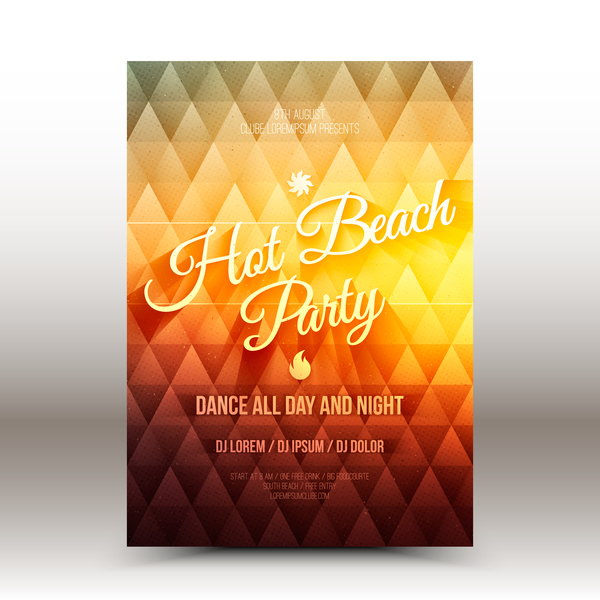 Cocktail party flyer template vector 03