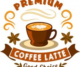 Coffee vintage labels vector design 02