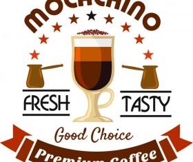 Coffee vintage labels vector design 03