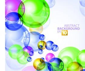 Color transparent bubbles vector background