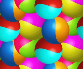 Colored ball pattern seamless vector material