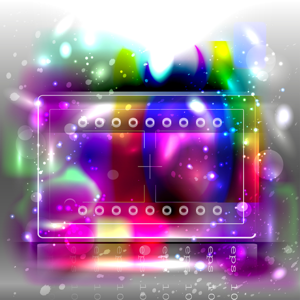 Colored light bokeh background vector