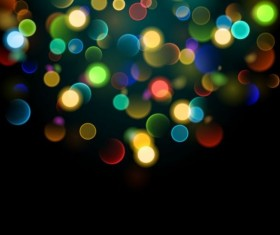 Colorful bokeh effect with background vector 02