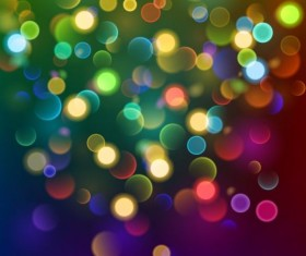 Colorful bokeh effect with background vector 03
